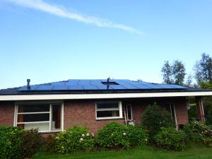 woning met zonnepanelen